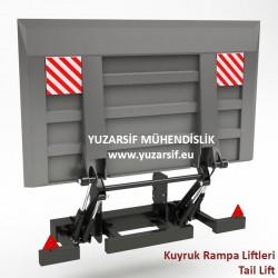 Kamyon Kamyonet Dorse Kuyruk Rampa Liftleri - Kuyruk Lift - Tail Lift - Arka Yükleme Rampası